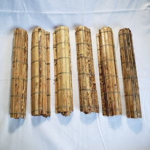 Rustic Bamboo Placemats Natural Chunky Six